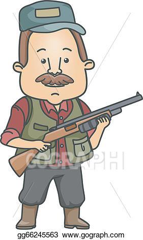 Vector stock clip art. Hunter clipart man hunting