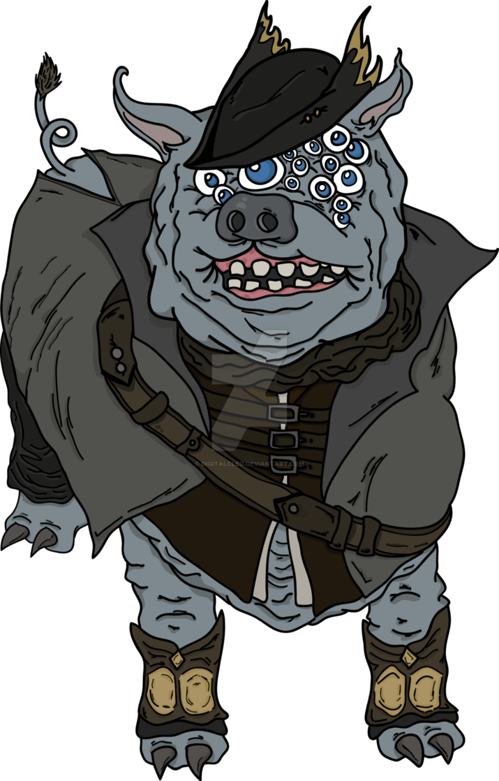 Bloodborne maneater boar by. Hunter clipart man hunting