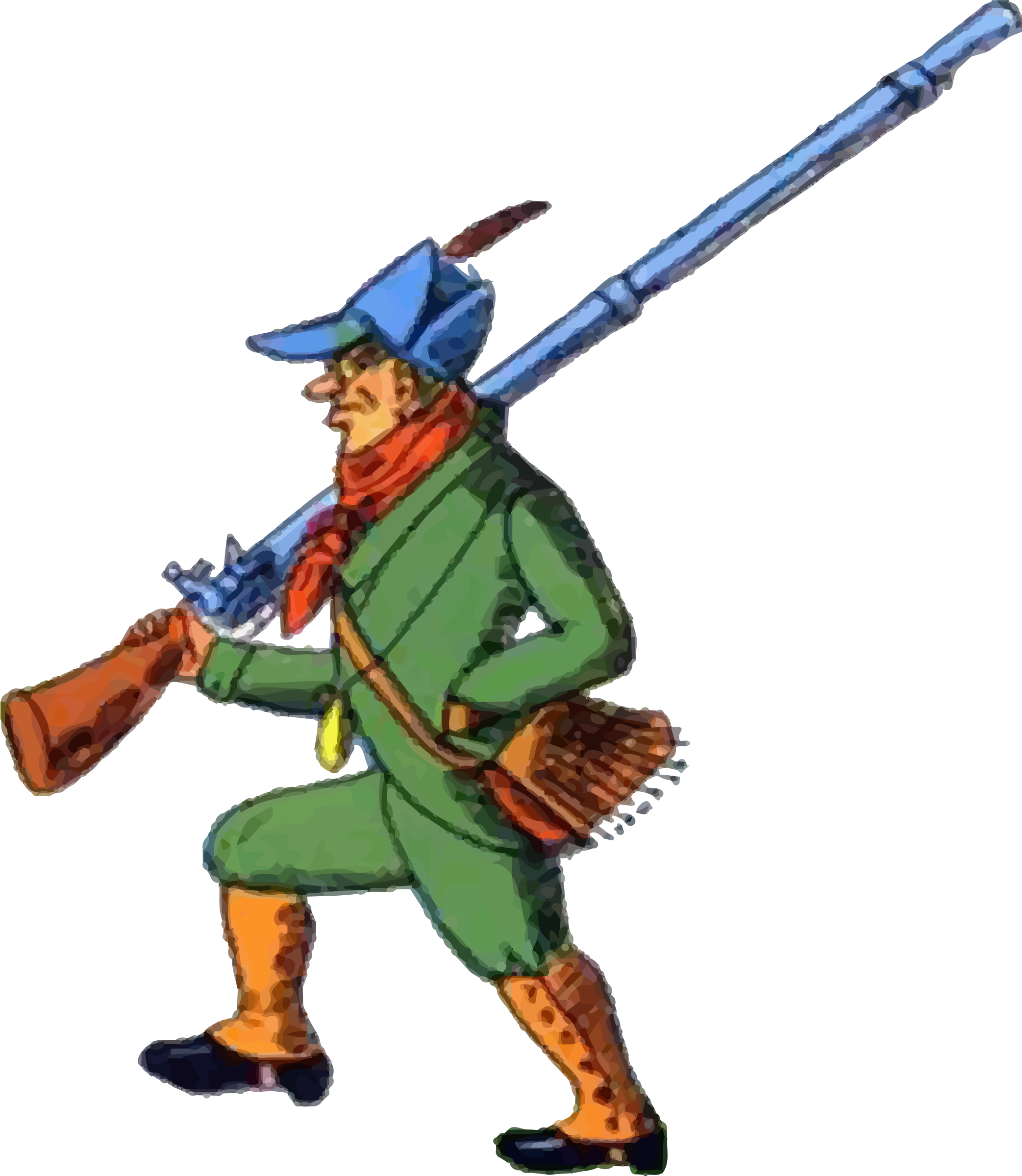 Hunter big image png. Hunting clipart man hunting