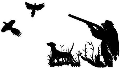 Amazon com bird hunting. Hunter clipart pheasant shooting