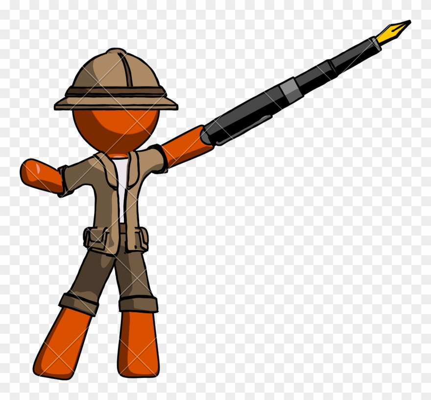 Hunter clipart safari hunter. Explorer drawing pinclipart