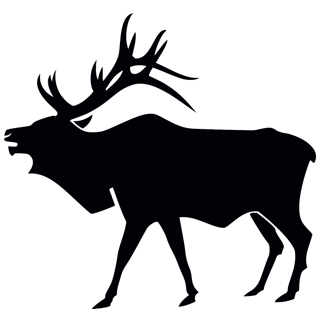 Hunting clipart decal. Bow hunter silhouette at