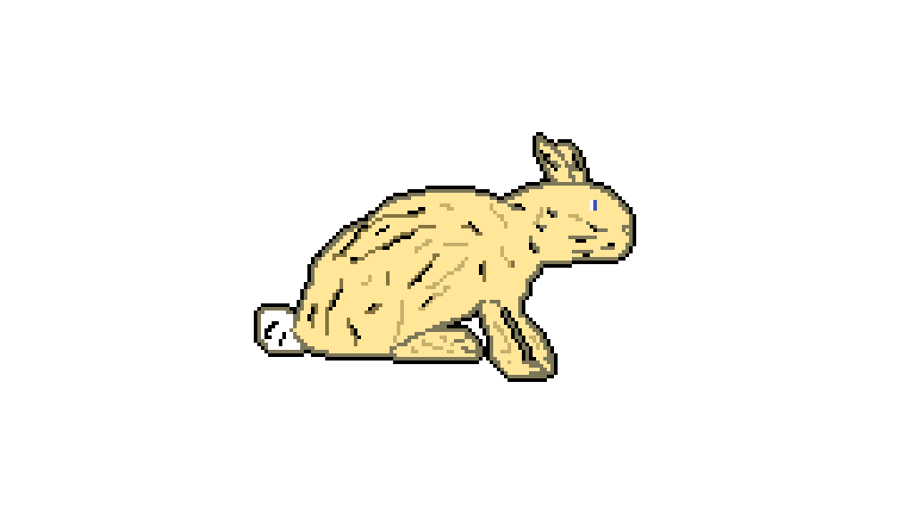 Hunter clipart stone age. Pixilart rabbit hunting by