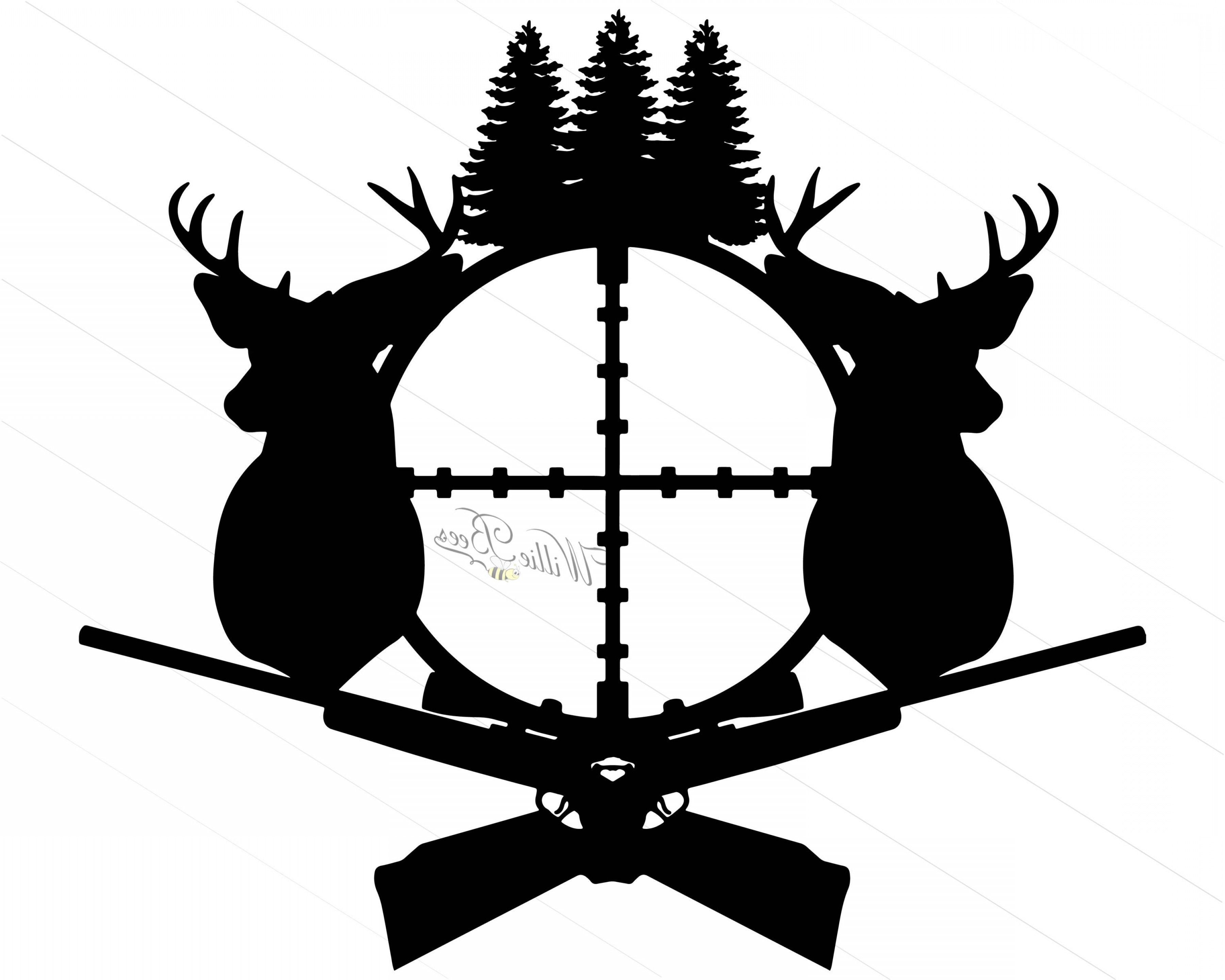 Deer hunting silhouette gone. Hunter clipart svg