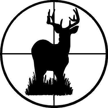 Hunter clipart target hunting. Details about small vinyl