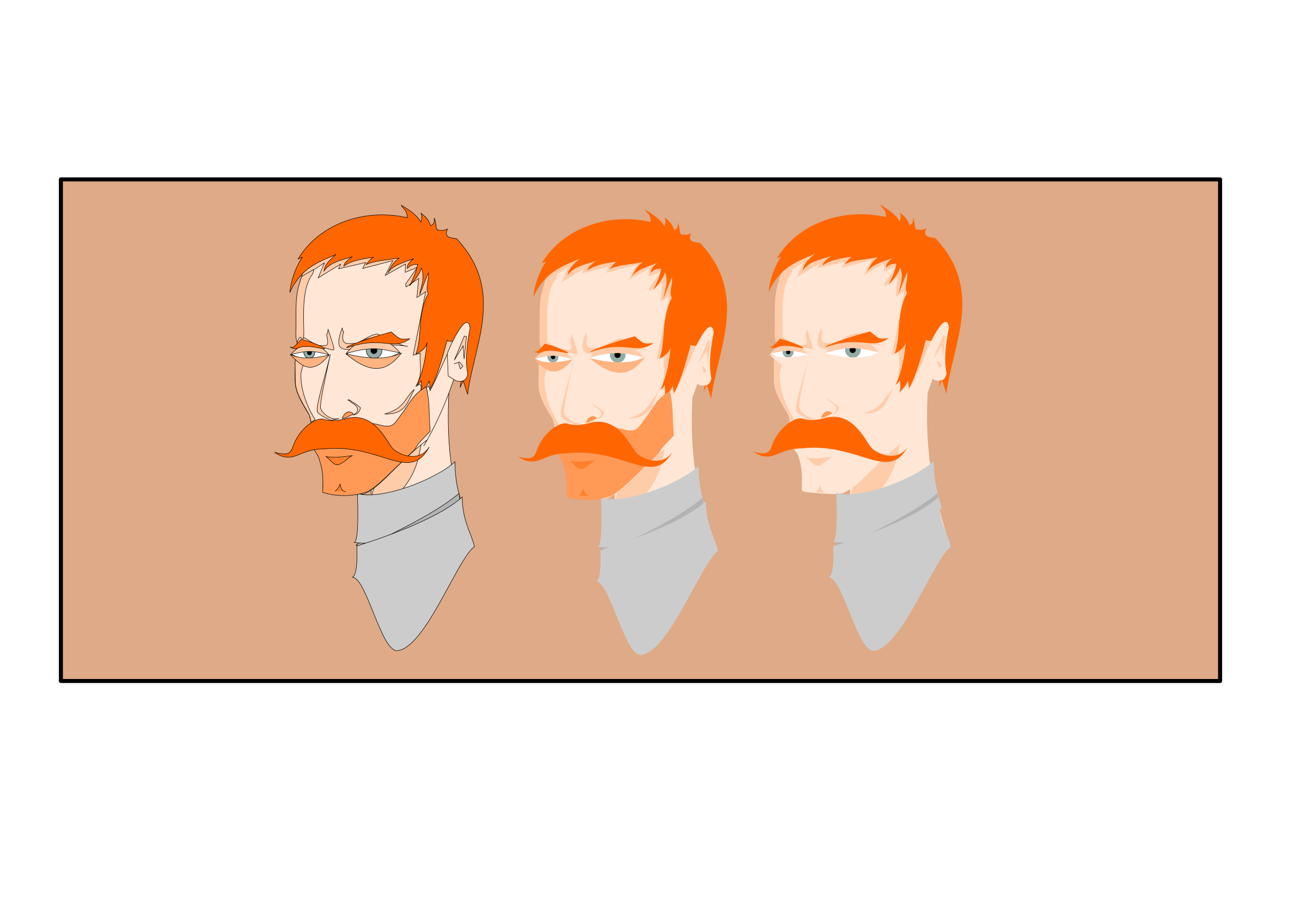 Face variations icons png. Hunter clipart two