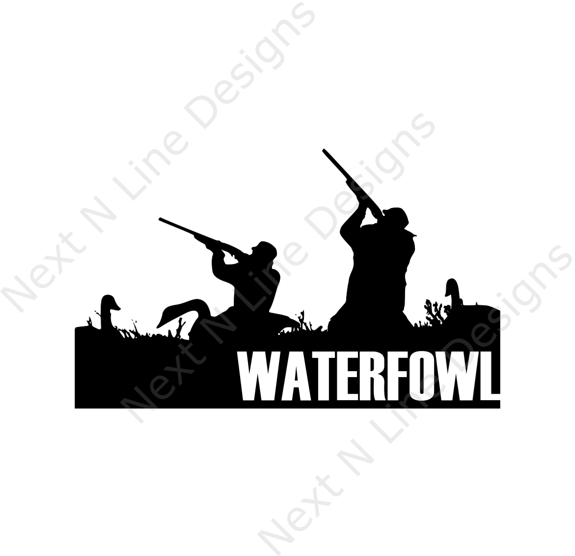 Goose decal products pinterest. Hunter clipart waterfowl hunting