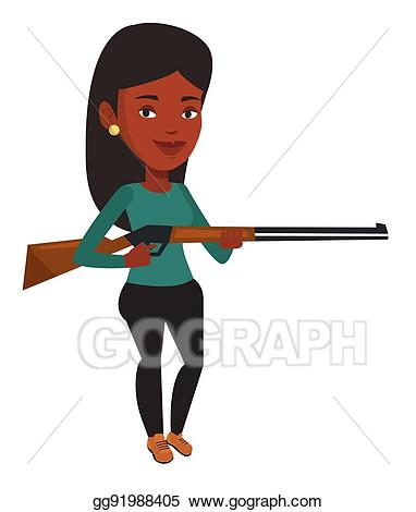 Vector stock ready to. Hunter clipart woman hunter