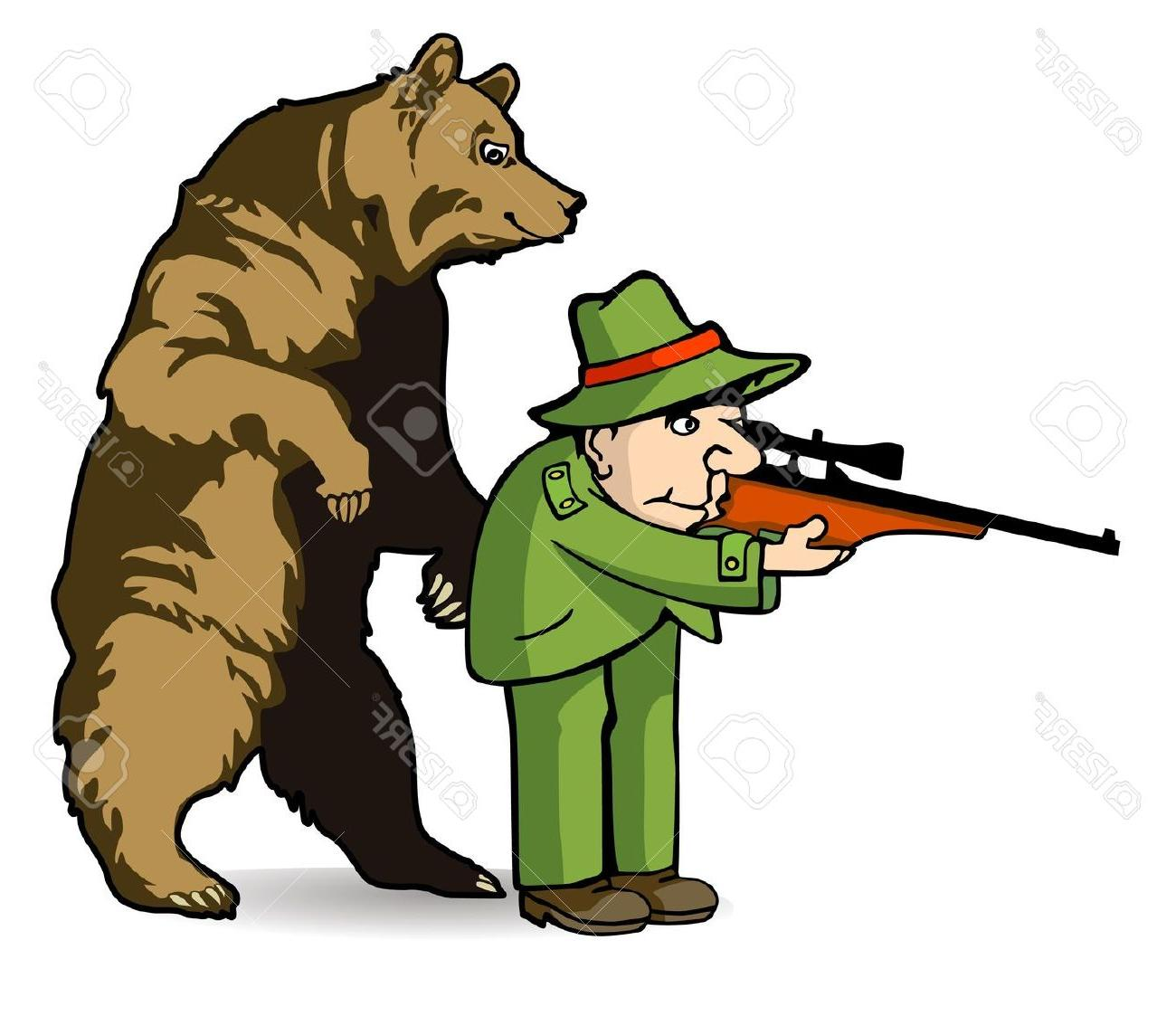 Best free bear hunting. Hunter clipart forest clipart
