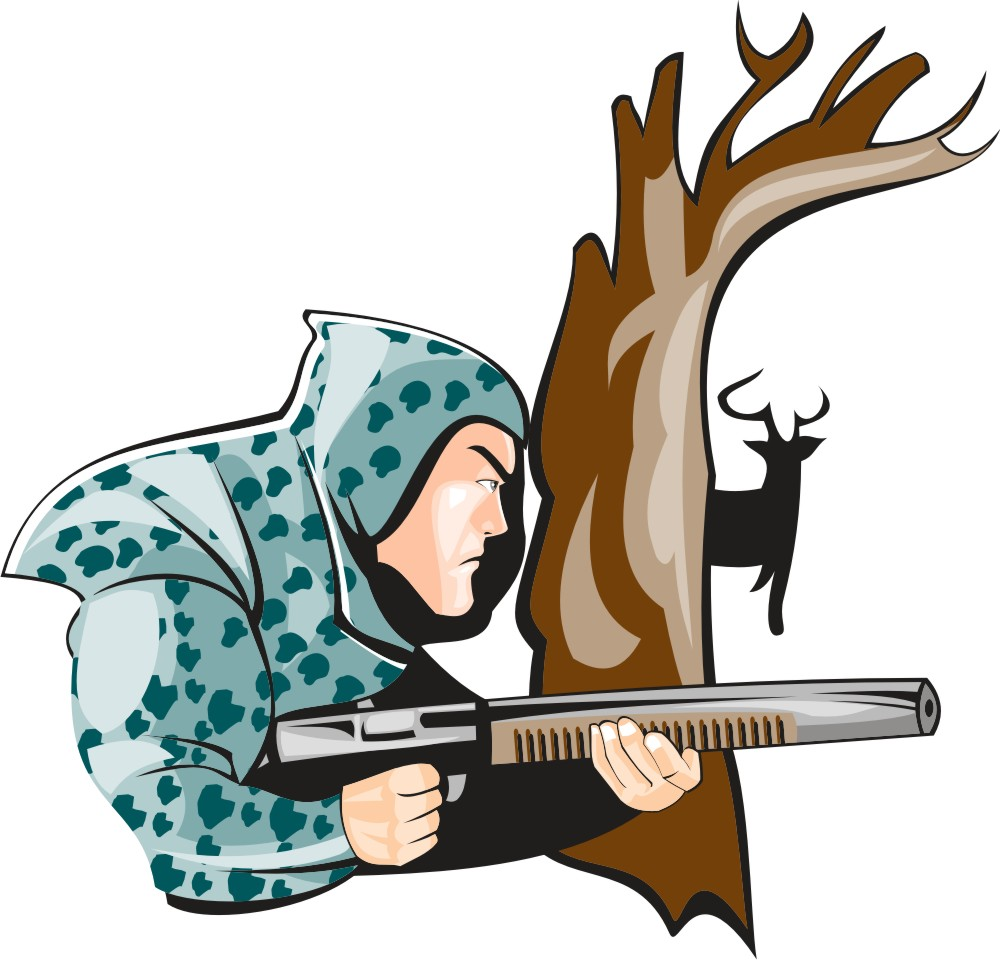 Free gone hunting cliparts. Hunter clipart deer rifle
