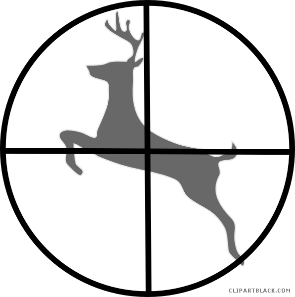 Hunting clipart animal hunting. Deer clipartblack com free