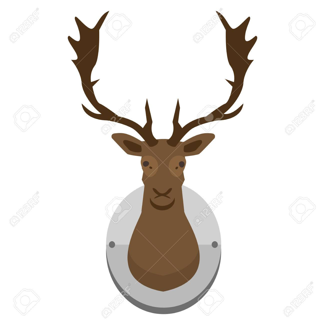 Free download clip art. Hunting clipart antelope head