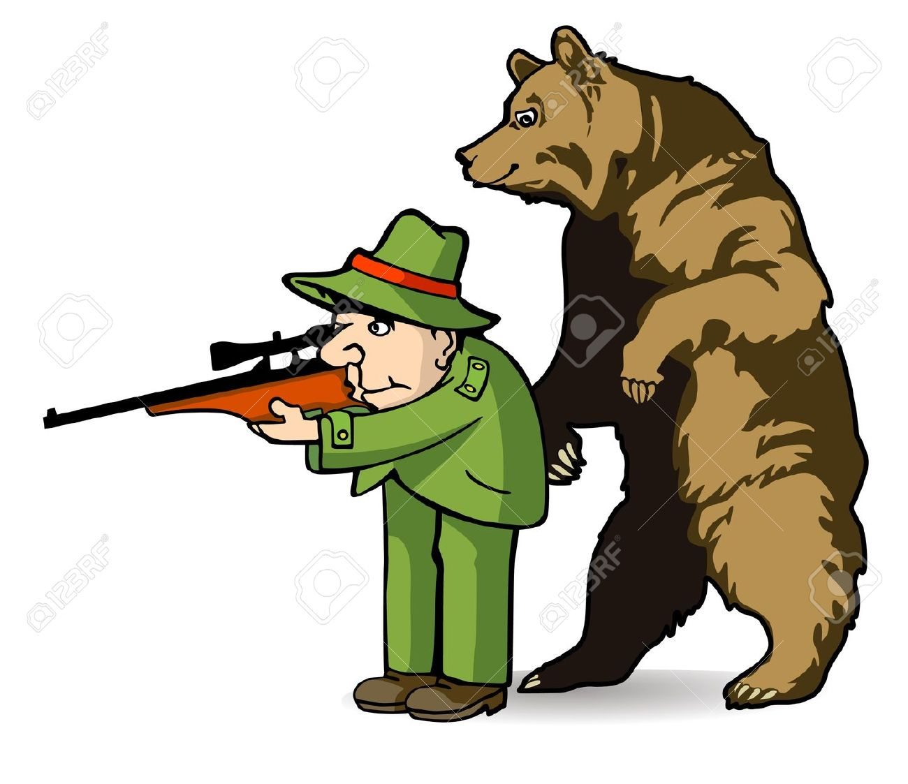 Hunting clipart bear mountain. Hunter cliparts free download