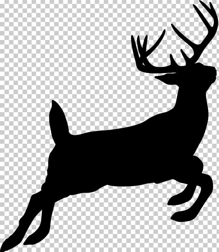 Hunting clipart black tailed deer. Reindeer silhouette white png