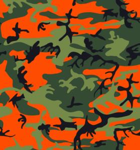 Print orange clip art. Hunting clipart camo hunter