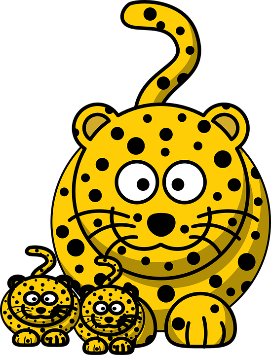 Leopard clipground free vector. Hunting clipart cartoon