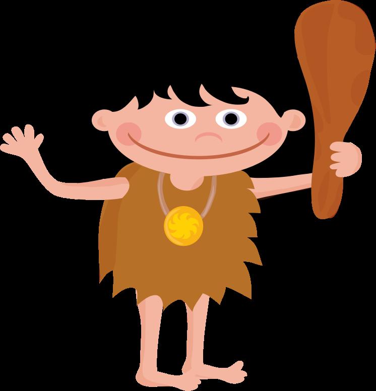 Neanderthal clip art vector. Hunting clipart caveman