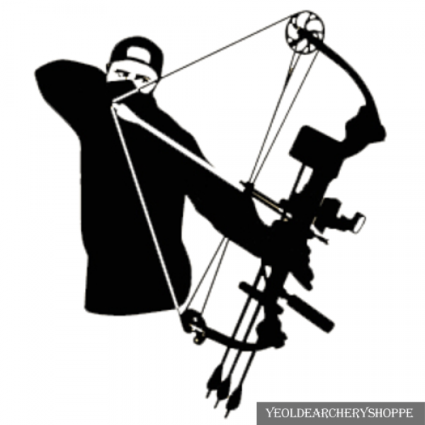 Hunting clipart compound bow. And arrow archery sticker