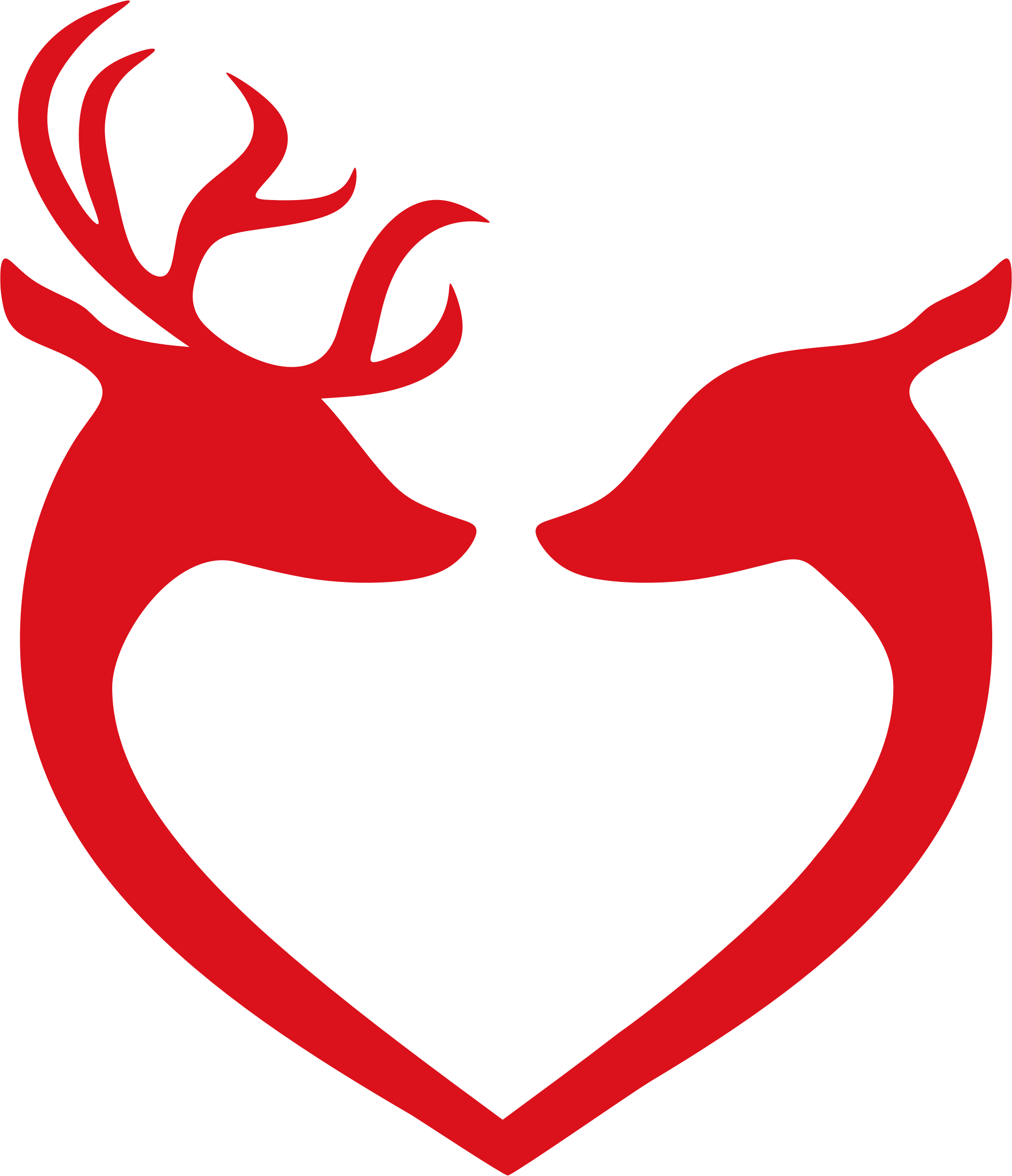 Deer heart silhouette by. Hunting clipart couple