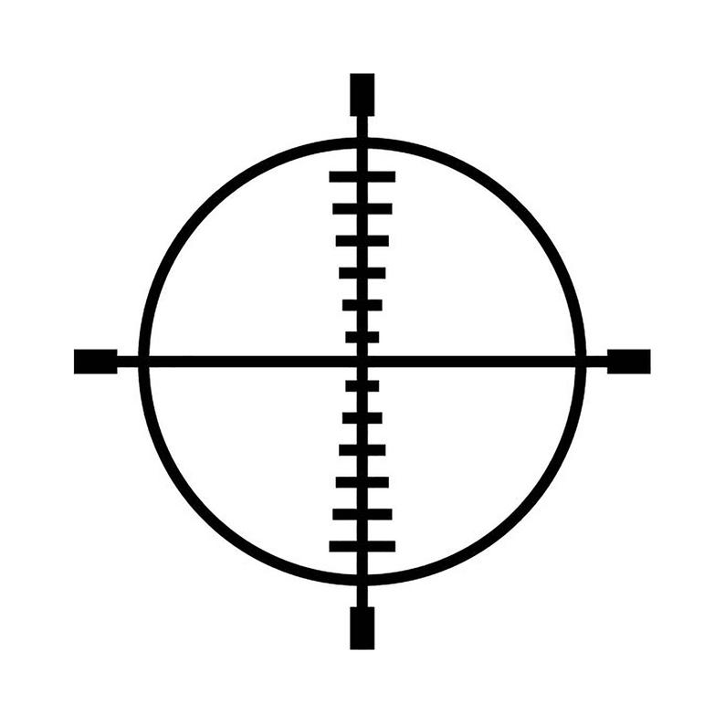 Scope sights rifle eps. Hunting clipart crosshairs