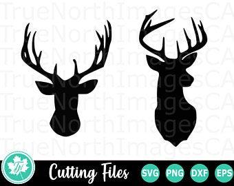 Hunting clipart deer antler. Etsy