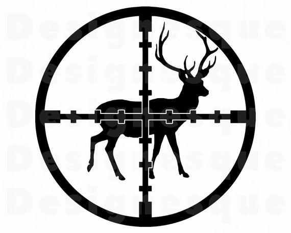 Hunting clipart deer logo. Svg vincent files for