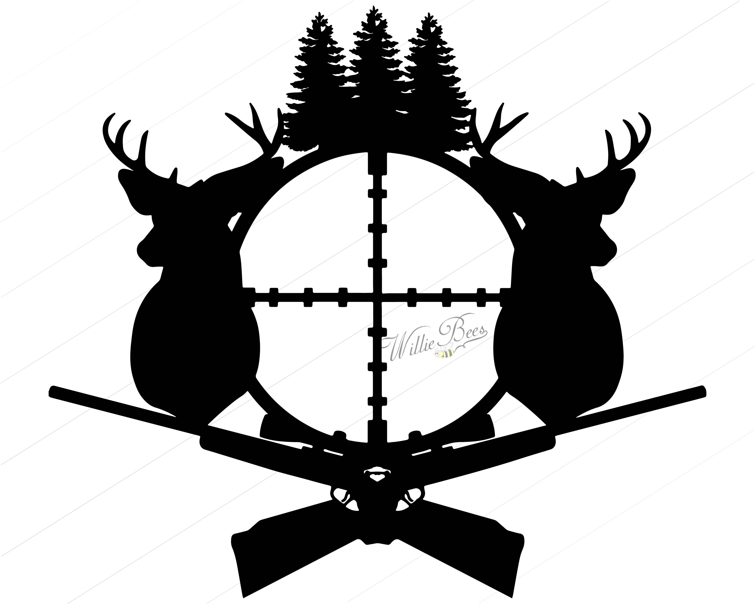 Cliparts free download best. Hunting clipart deer rifle