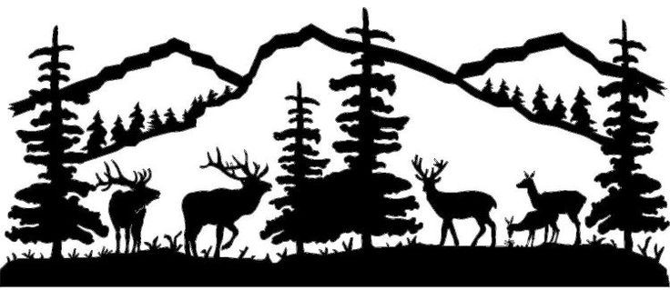 Hunting clipart deer scene. Free cliparts download clip