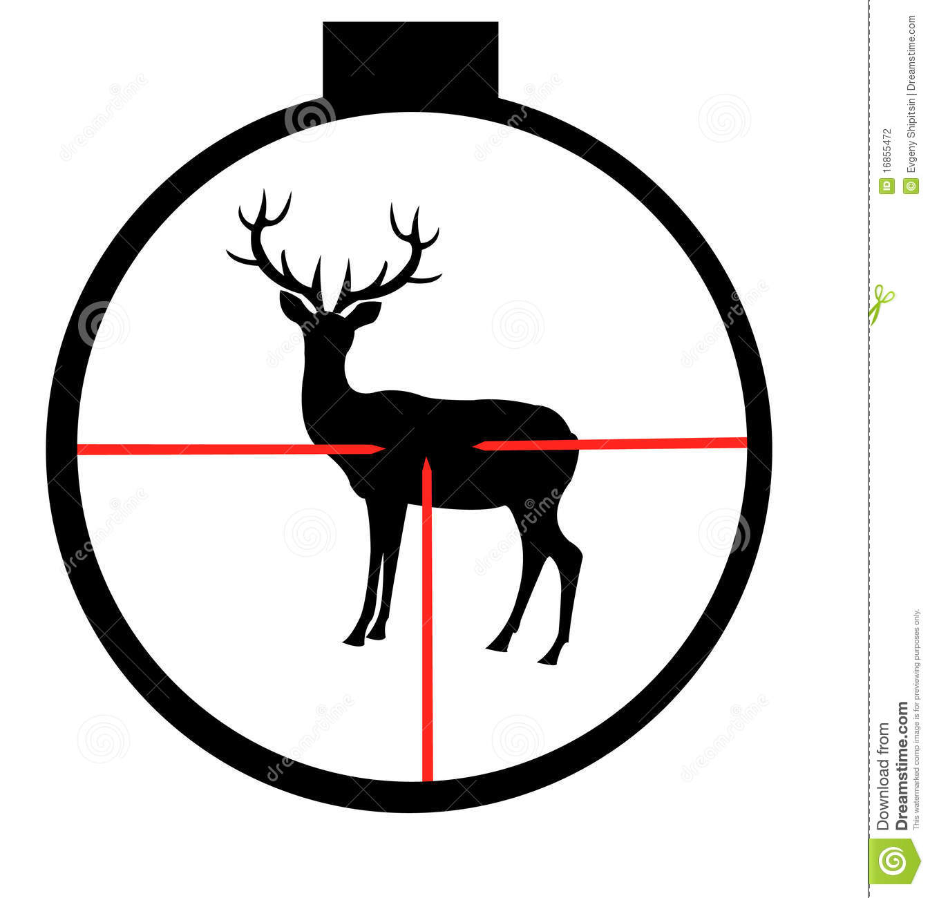 Hunting clipart deer scene. Cliparts free download best