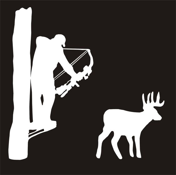 Hunting clipart deer tree. Funny hunters in stand