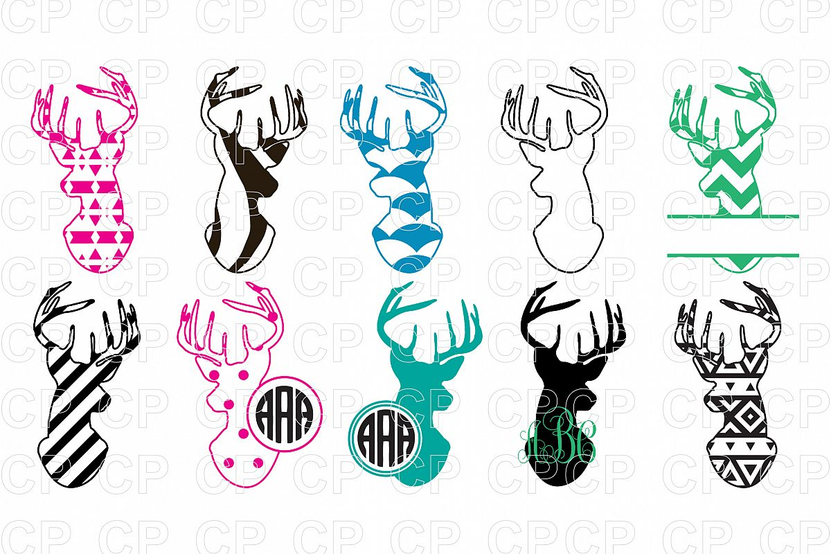 Deer bundle svg cut. Hunting clipart design