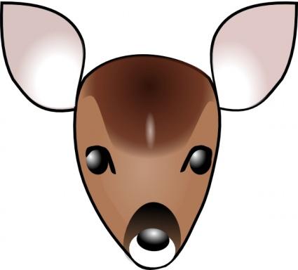 Hunting clipart face. Deer panda free images