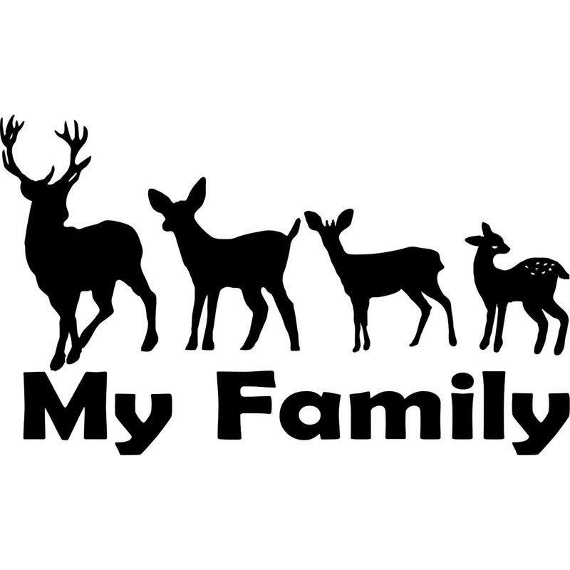 Hunting clipart family. Download deer silhouette decal