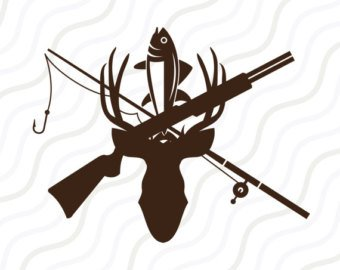Hunting clipart gone. Etsy