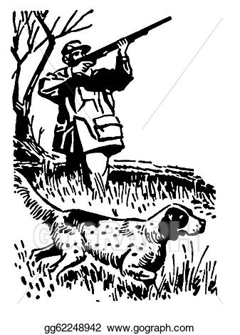 Hunting clipart guy. Stock illustration a black