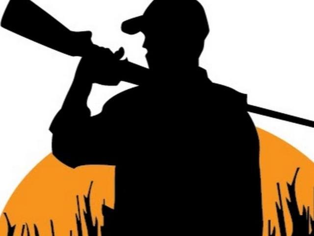X free clip art. Hunting clipart guy