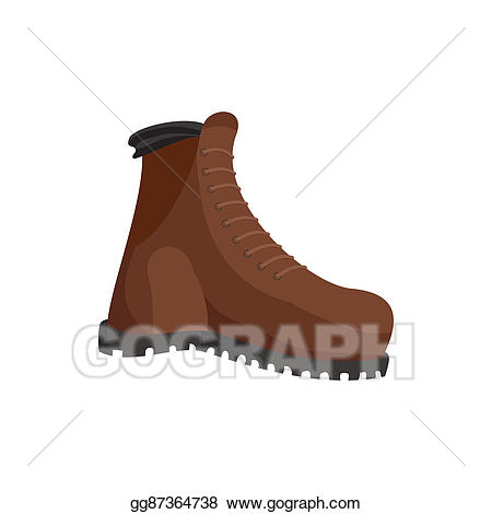 Stock illustration boots icon. Hunting clipart hunting boot