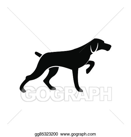 Hunting clipart hunting dog. Drawing black simple icon