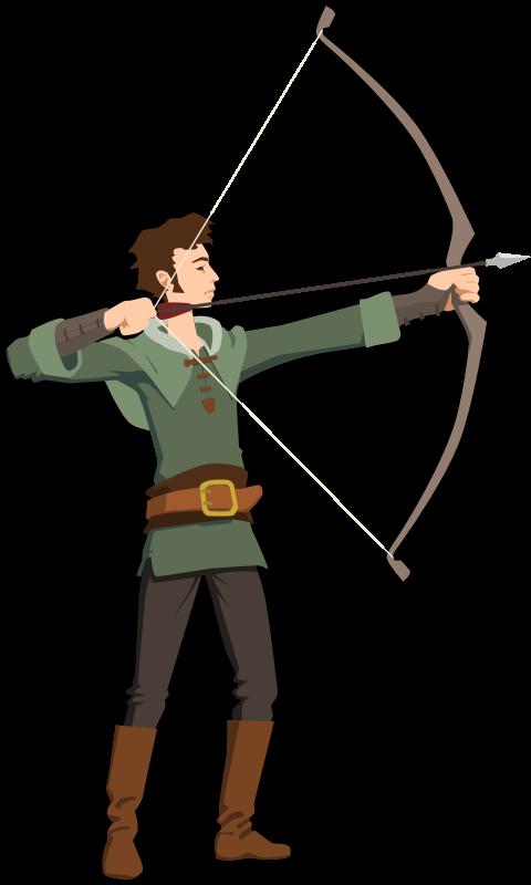 Bow hunter deer clip. Hunting clipart hunting gun