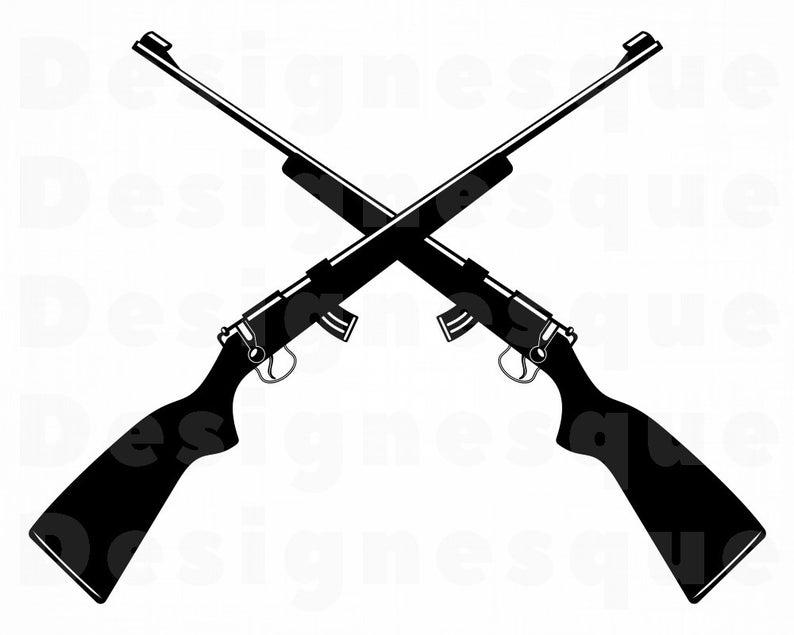 Hunting clipart hunting gun. Rifle logo svg files