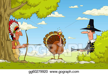 Eps illustration for vector. Hunting clipart hunting turkey