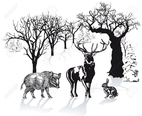 Hunting clipart landscape.  logos pictures and