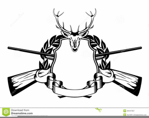 Black and white free. Hunting clipart line art