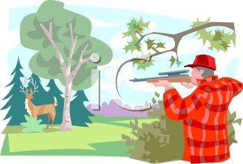Hunting clipart man hunting.  deer image for