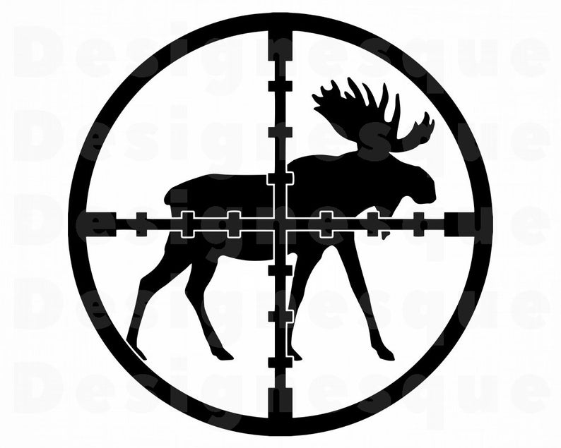Svg files for cricut. Hunting clipart moose hunting