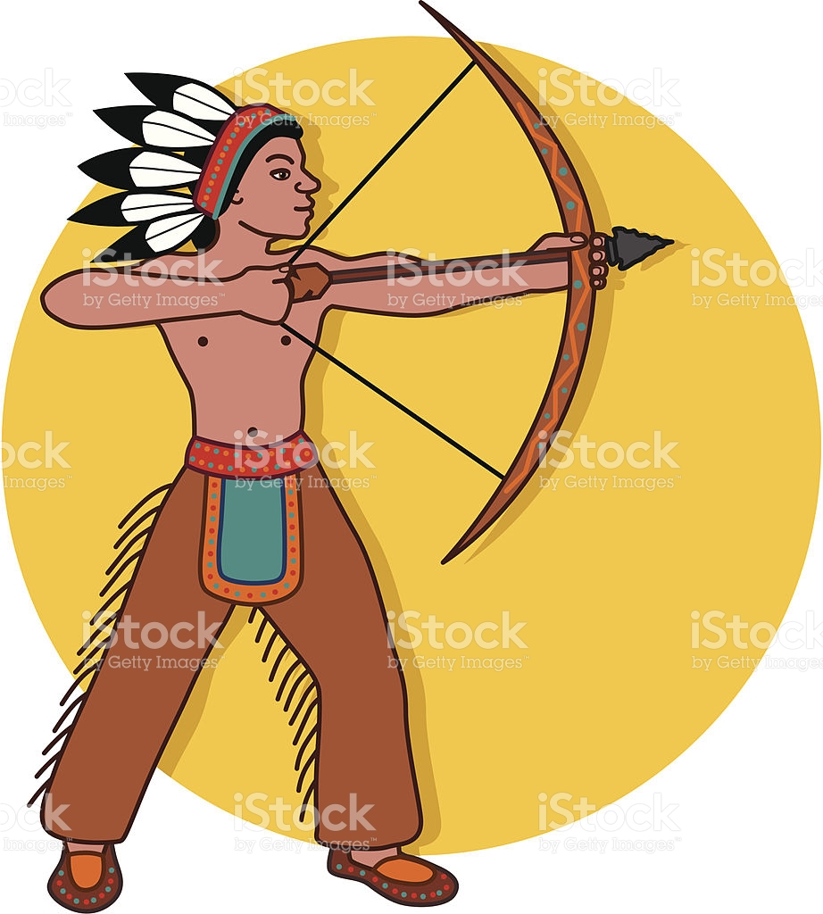 . Hunting clipart native american hunting