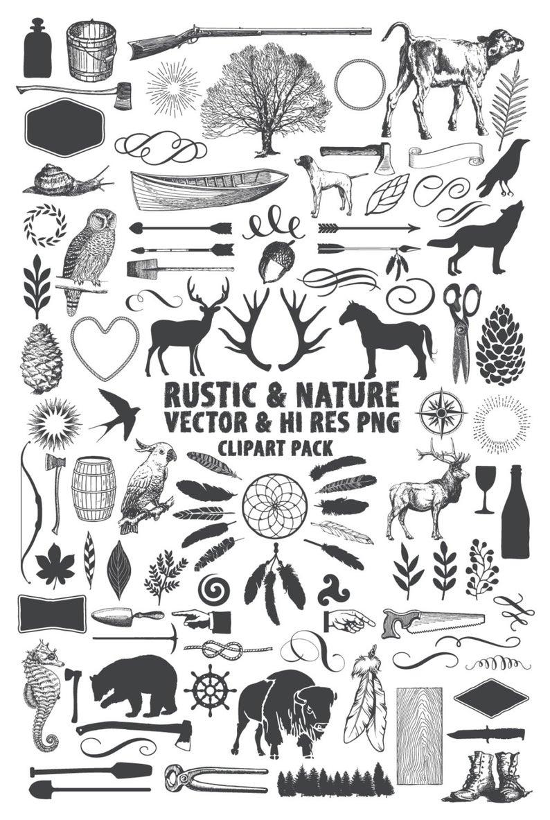 Rustic pack lumberjack camping. Hunting clipart nature