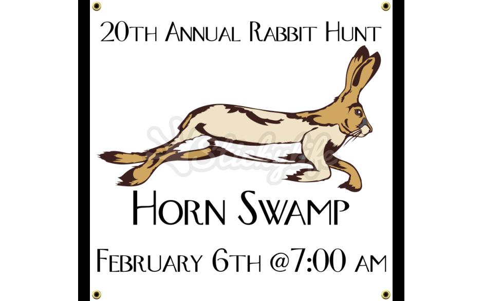 Hunting clipart rabbit hunting. Annual hunt vinyl banner