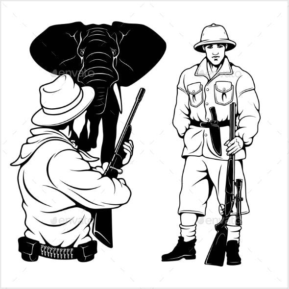 Hunting clipart safari hunter. Download for free png