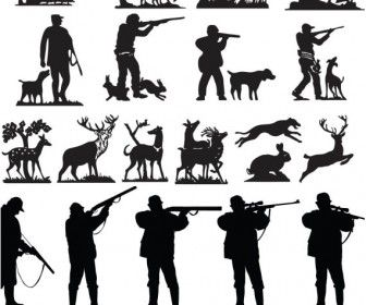 Hunting clipart silhouette. Free cliparts download clip
